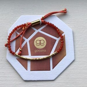Gorjana power gemstone bracelet in orange agate